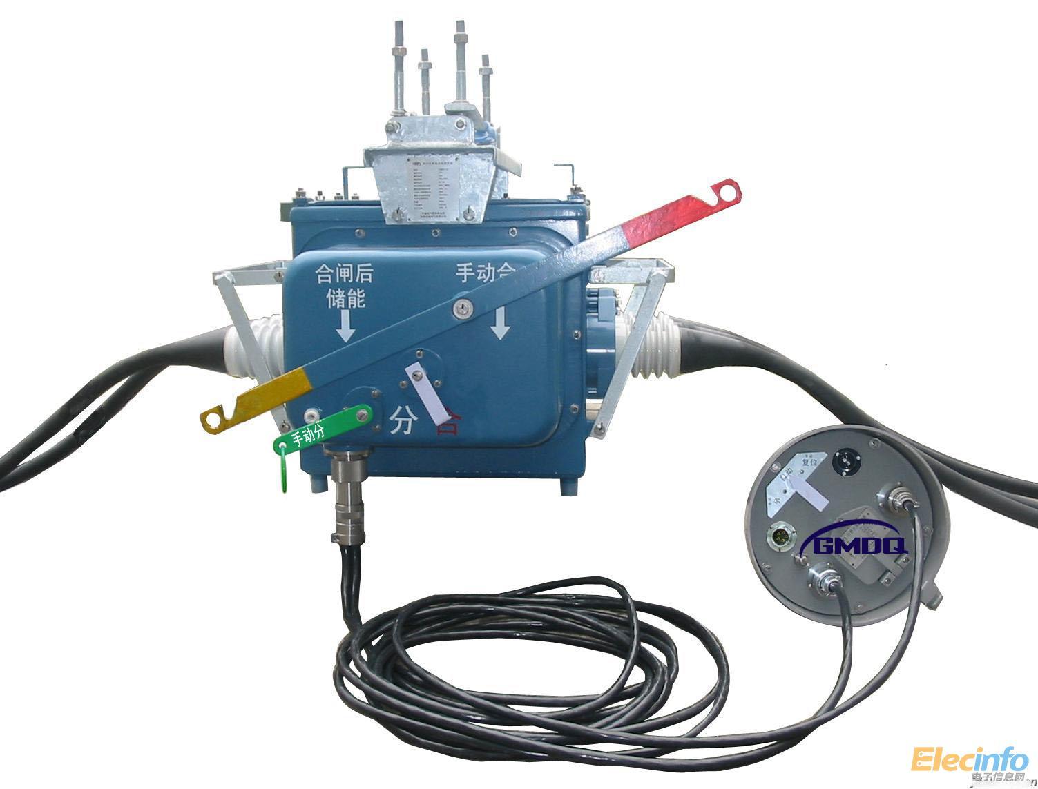 一、FZW28-12F产品介绍: 乐清市国铭智能开关厂是目前国内主要的专业从事生产高压真空断路器和电气设备的厂家之一。 公司通过引进先进的工艺技术和设备,专业生产高压电气系列产品,产品有高压真空断路器、(智能)永磁真空断路器、分界开关、(真空)负荷开关、隔离开关、接地开关、高压熔断器、避雷器、六氟化硫断路器等。 FZW28F-12型户外分界真空负荷开关使用于柱上安装的场合,具有手动和电动操作功能。开关本体采用引进日本东芝公司VSP5-12型免维护负荷开关,采用真空灭弧、SF6气体做绝缘介质。适用于变电站、