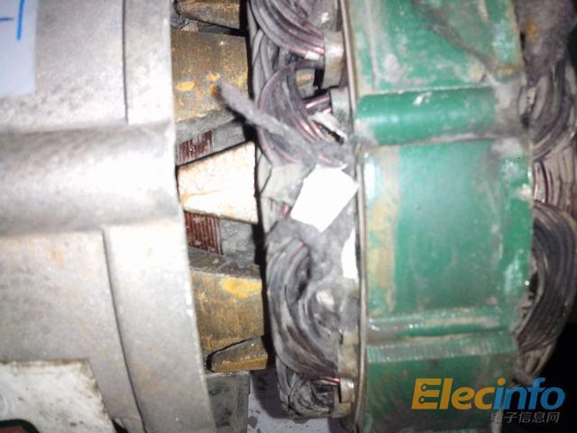 拆解坏的汽车发电机-电源网