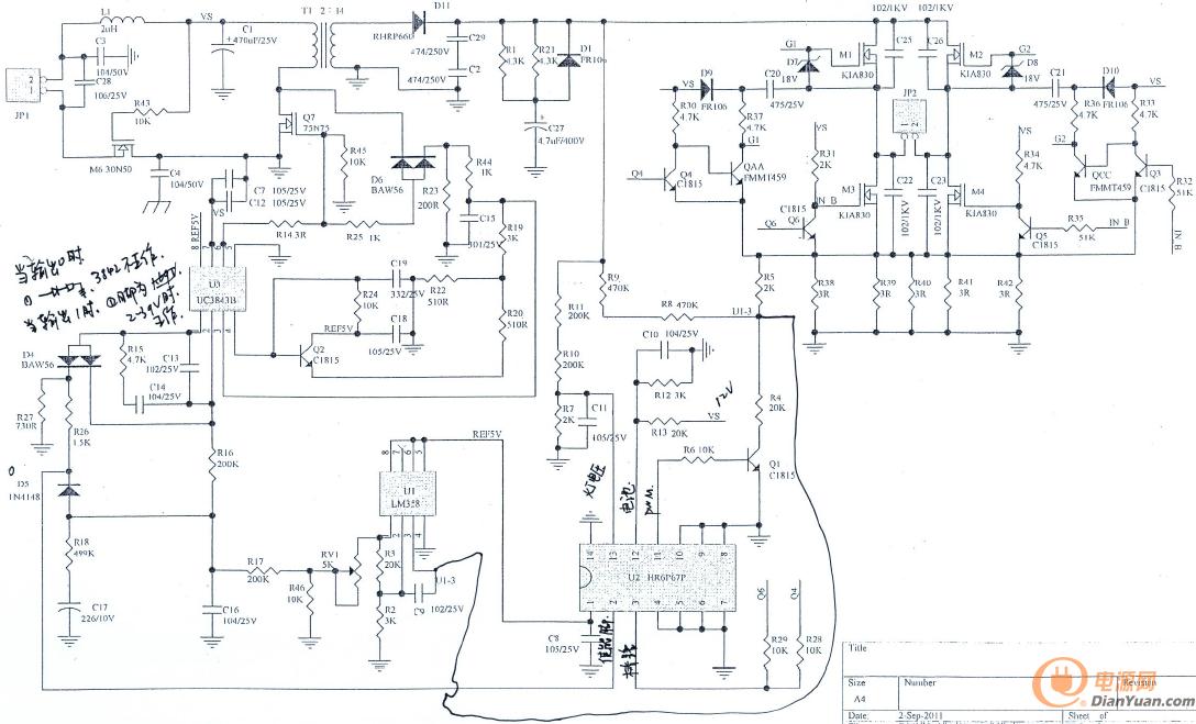 (附原理图)这个3843电路3脚外围元件是什么作用?