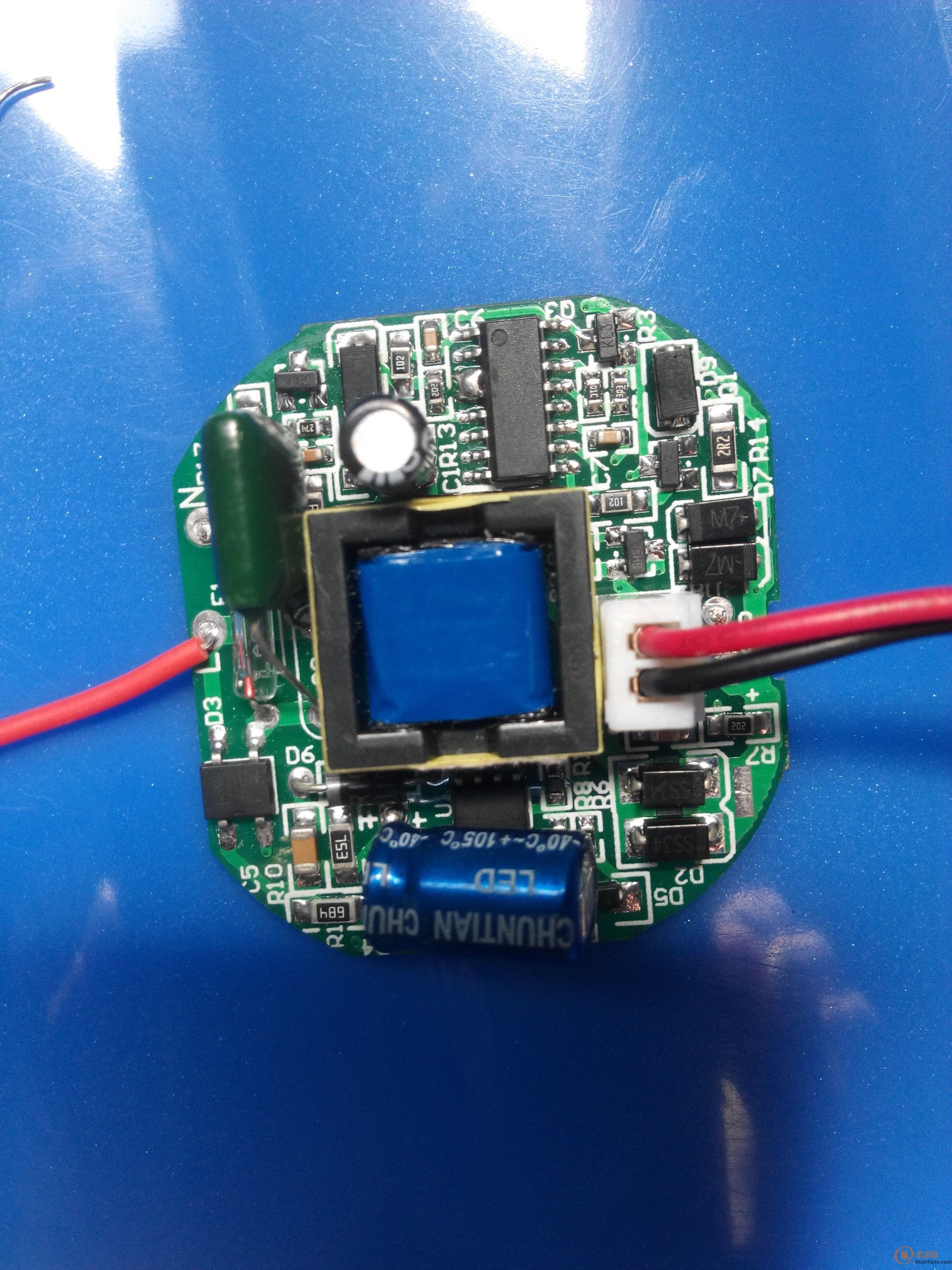 电路板led灯接线图解
