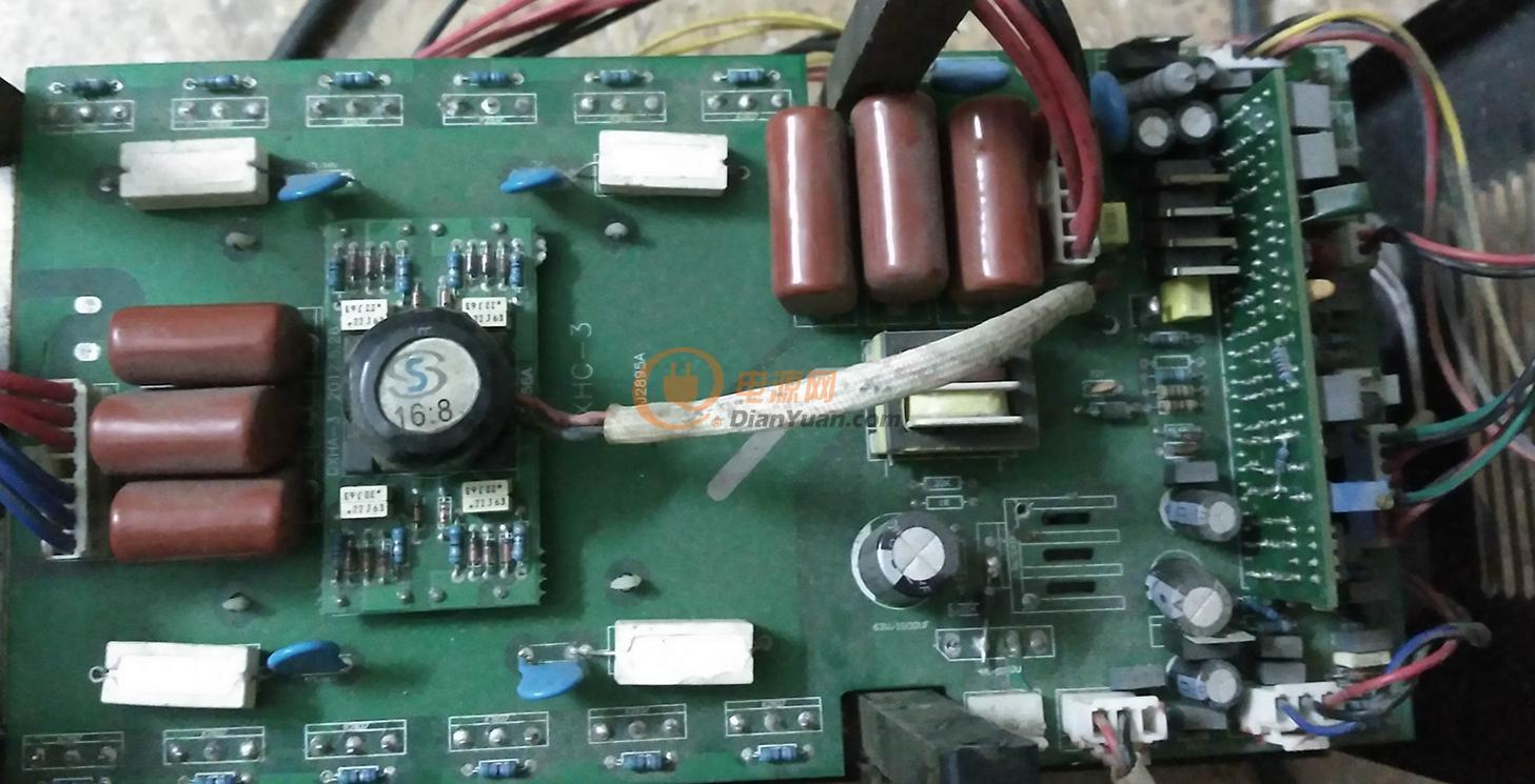 电焊机改220/380电源底板接线图