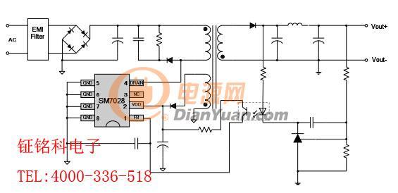 sm7028美的电磁炉芯片sm7028