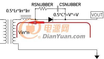 输出二极管RC吸收电路