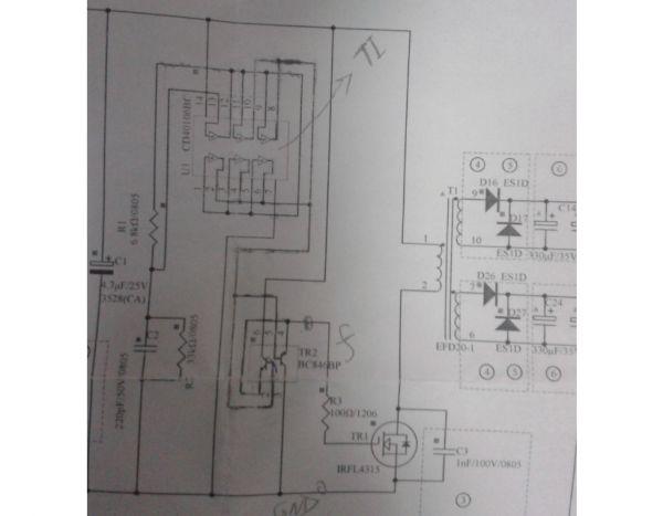 我看资料上都说变压器复位后DS间电压会维持在输入电压,直到下一次MOS开通,为什么我这个电压直接就降到0了?LC振荡频率是280kHz左右,MOSFET驱动电压占空比为30%左右,满足LC振荡周期小于关断时间的要求,为啥和理论的波形不一样。 我觉得我是有地方没想到或不清楚,但是找不到方向,请大家指导一下,谢谢! PS:这个正激电路输出侧没有电感,但是也能正常用,我给加了个330uH的电感,波形几乎没有变化。