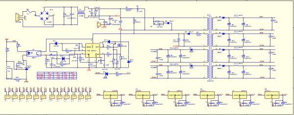 电源板电路主芯片用的是uc3845图片