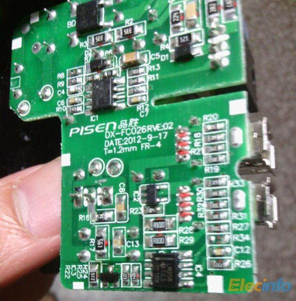 69rmb的品胜双usb充电器拆机拍卖了-电源网