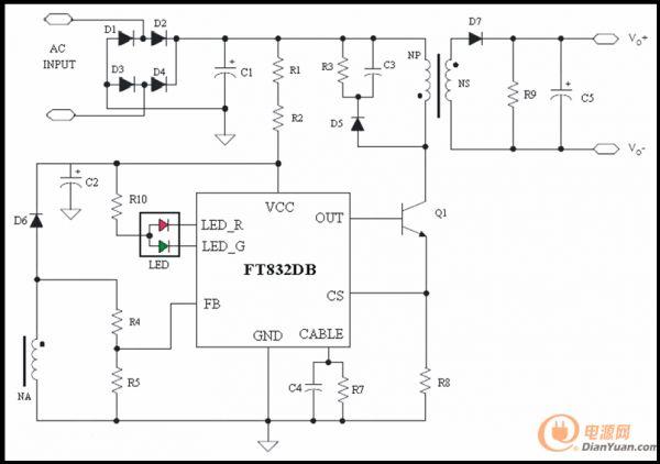 全球唯一带充电转灯指示ic,原边反馈 - 辉芒微电子ft832db