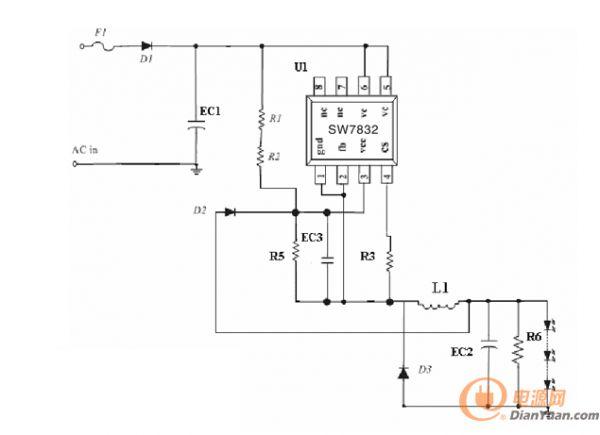 芯派科技在绿色电源这方面有着独特的见解,芯派的非隔离恒流驱动芯片SW7832使用来驱动非隔离LED开关,效果是非常赞的。 非隔离恒流驱动芯片 SW7832的特点: 1. 高效的临界工作模式; 2.专利的零电流检测工作; 3.工字型电感,无需变压器; 4.无续流二极管的反向恢复问题; 5.3%的输出恒流精度,单芯片1%精度; 6.