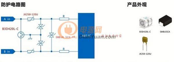 浪拓电子应用案例:rs485/232防护方案设计