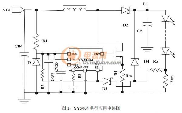 供应yy5004太阳能路灯,汽车大灯,扭扭车芯片