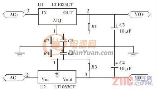高稳定度低纹波线性直流稳压电源的设计图片