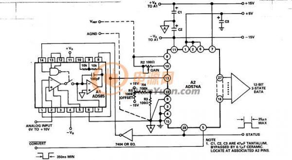 图8a - 使用IC采样保持放大器