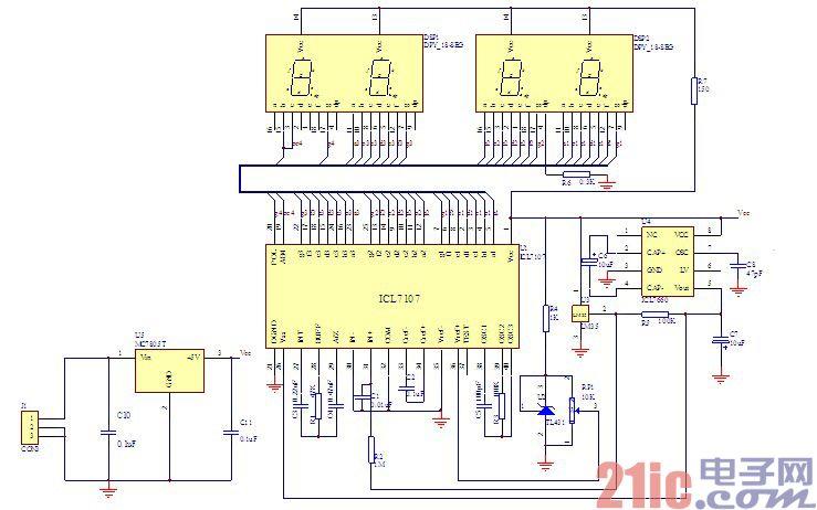 绘制数显温度计电路图及pcb设计方法图片
