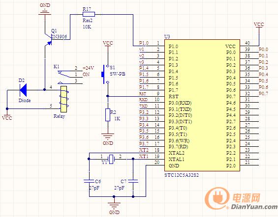 图2 单片机控制电路图-大师帮你高效完成模块电源并联系统硬件电路设图片