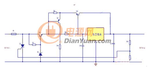 图5直流稳压电源设计中的系统保护电路-方案分享 一种直流稳压电源的图片