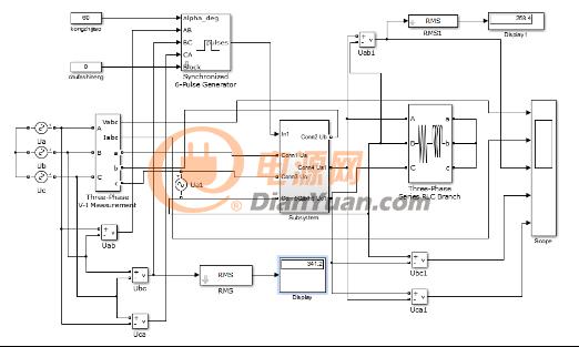 三相可控硅联结交流调压电路仿真电路图-干货分享 一种三相可控硅图片