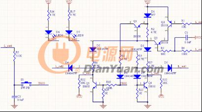 一键三档的三极管开关电路图-基于三极管开关电路的一键三挡电路设
