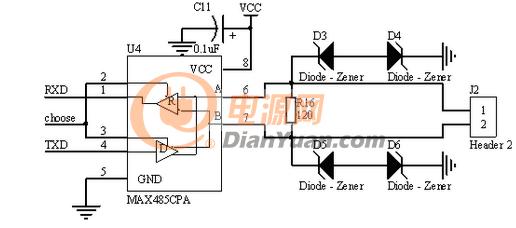 光耦合器rs485典型应用电路设计简析