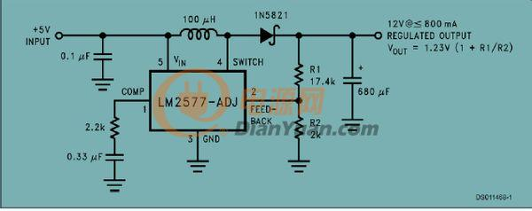 升压芯片的种类繁多,其主要的作用就是对电流电压进行调节,从而满足设计者对设计方案的需求。虽然大多升压芯片的工作原理都是基于此目的,但通过实例来对其进行理解也是非常有必要的。本文将以LM2577-ADJ这款升压芯片为例,为大家剖析其工作原理。 LM2577-ADJ开关电源芯片被整体整合在集成电路中,为反激变换开关调节器和前锋转换开关调节器提供电源并且控制这两个调节器。LM2577-ADJ可用于三种不同的输出电压,分别是12V、15V和可调电压。 LM2577-ADJ只需要最少的外部器件,调节器有非常高的效率
