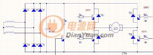 图3 H桥式直流脉宽调速系统主电路-双闭环PWM调速系统方案分享之图片