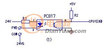 图1为常见三极管光耦器件的应用电路图