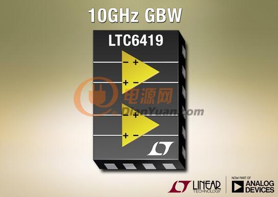 ADI亚德诺半导体双差分放大器  ADC 驱动器LTC6419