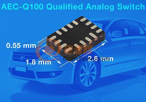Vishay通过AEC-Q100认证的模拟开关提高信号完整性带宽