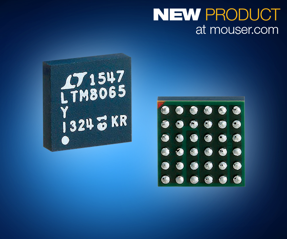 贸泽备货Analog Devices LTM8065 µModule稳压器