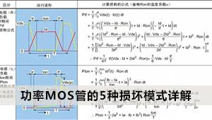 功率MOS管的5种损坏模式详解