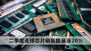 二季度全球芯片销售额暴涨20% 或继续上涨