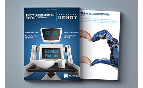 贸泽与格兰特·今原联手发布电子书《Generation Robot》
