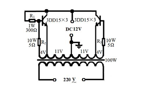 详解升压器12v升220v电路图