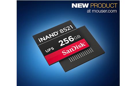 贸泽开售SanDisk iNAND 8251 嵌入式闪存