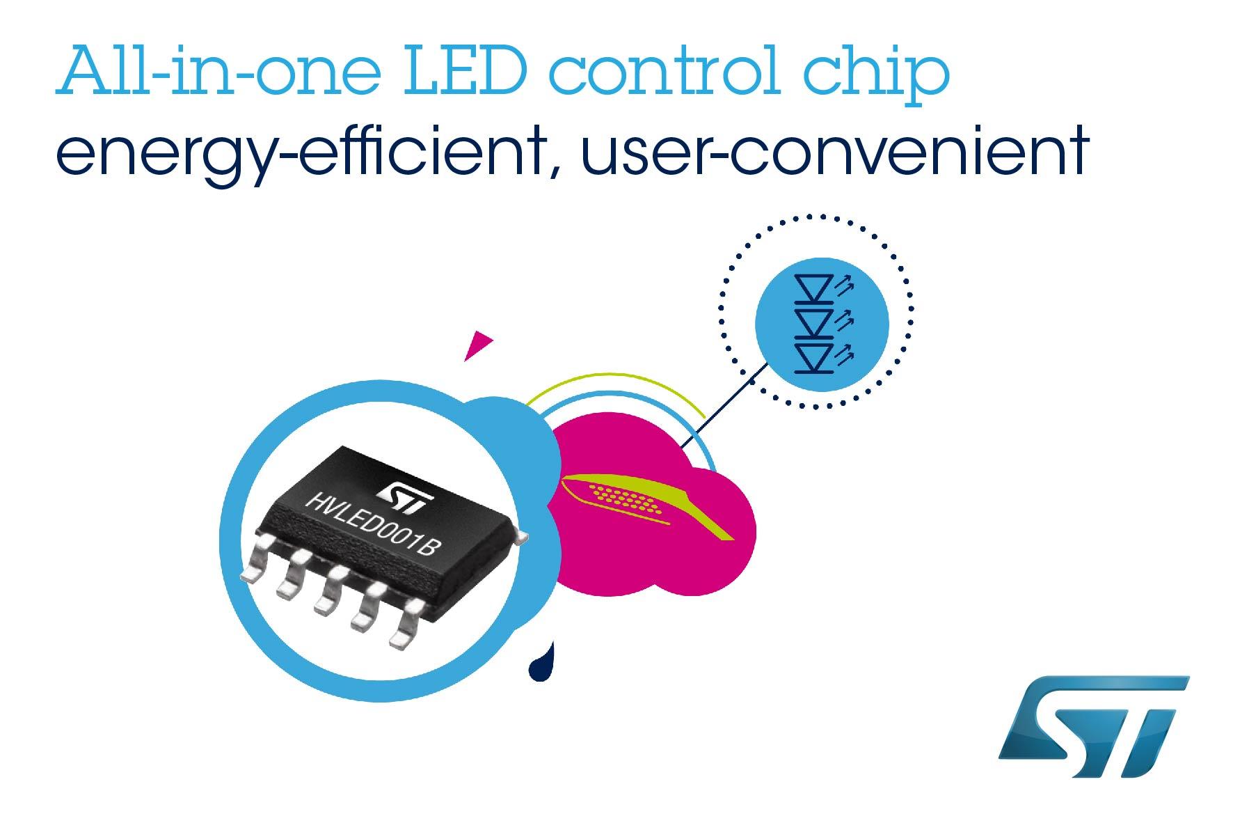 ST推出最先进的照明控制器 使灯具设计使用更简便