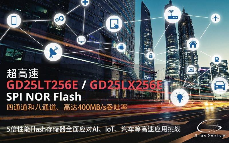 兆易创新推出全新高速4通道及兼容xSPI规格的8通道SPI NOR Flash产品系列
