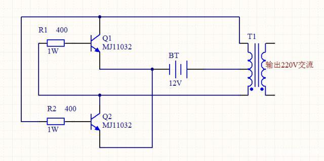 初学者必学:如何分析一个12伏转220伏逆变器的原理