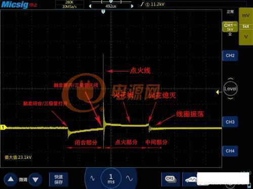 技术文章:示波器点火信号波形分析