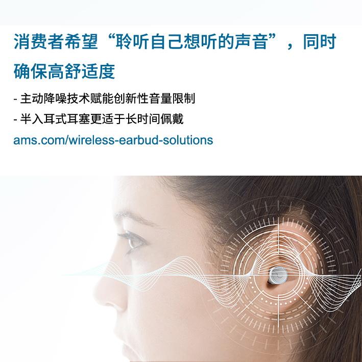 """艾迈斯半导体调查发现,消费者希望""""聆听自己想听的声音"""",同时舒适度不受影响"""