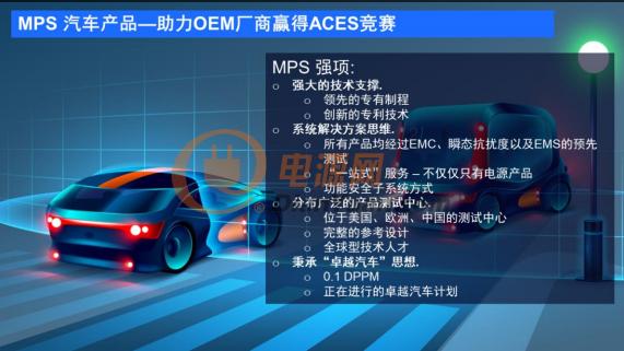 "MPS""Power Subsystems"",助力汽车工业加速实现ACES"