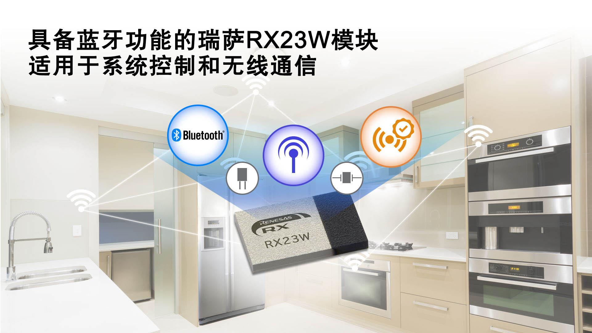 瑞萨电子推出具备蓝牙功能的RX23W模块 适用于物联网设备的系统控制与无线通信