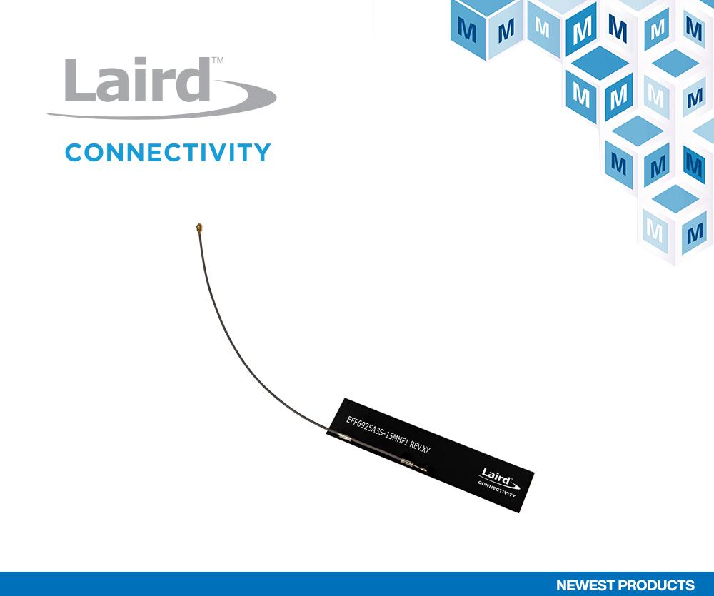 贸泽电子开售适用于5G和物联网应用的 Laird Connectivity Revie Flex蜂窝天线