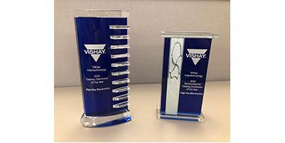 Digi-Key Electronics 获评 Vishay 北美年度目录分销商和年度目录半导体分销商