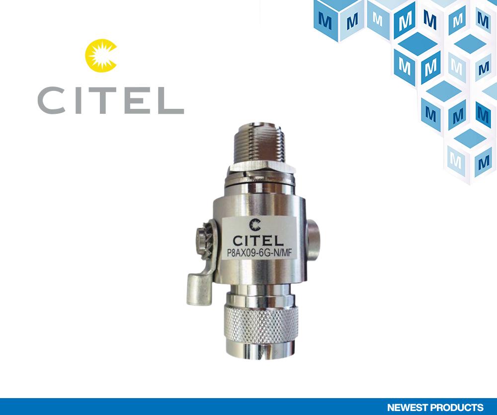 贸泽电子宣布与浪涌保护产品制造商CITEL签订分销协议