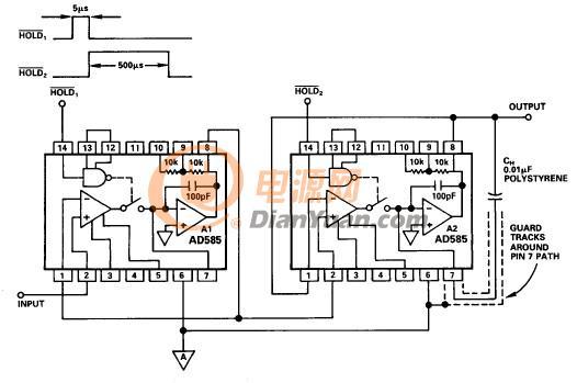 图9 - 使用IC采样保持放大器