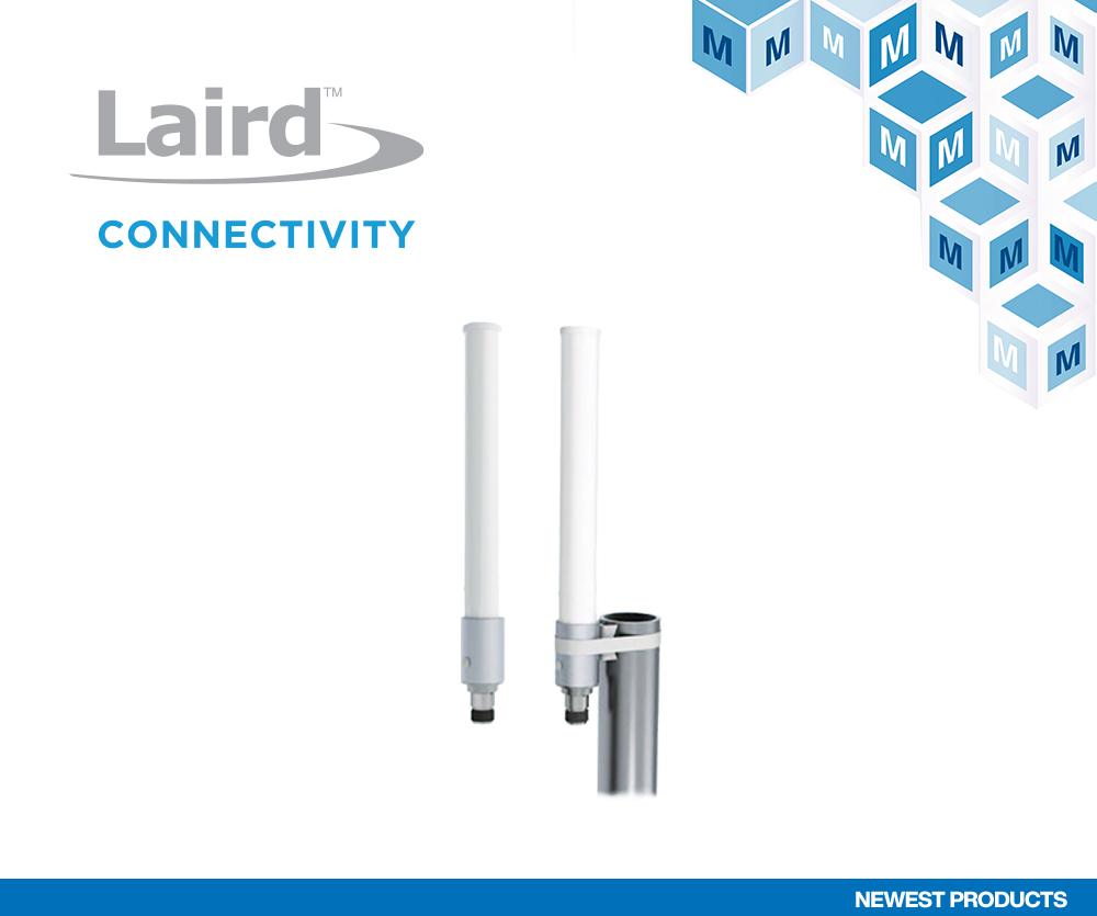 贸泽备货Laird Connectivity坚固型OC69421多频段全向天线,为4G/5G基础设施应用添助力