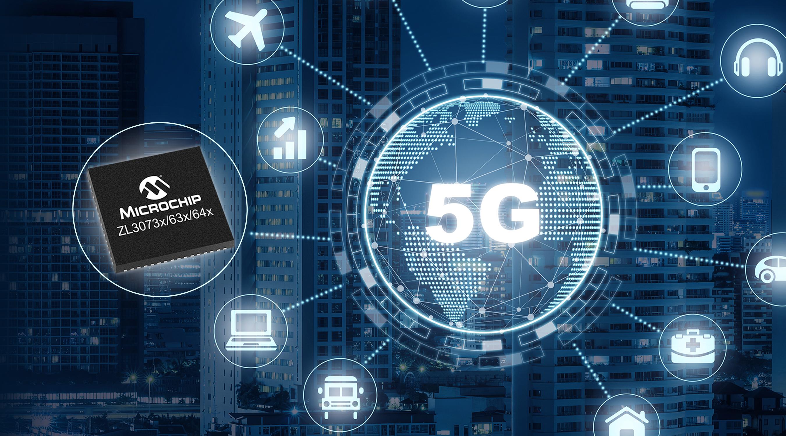 Microchip推出首款单芯片网络同步解决方案,为5G无线接入设备提供超精确授时