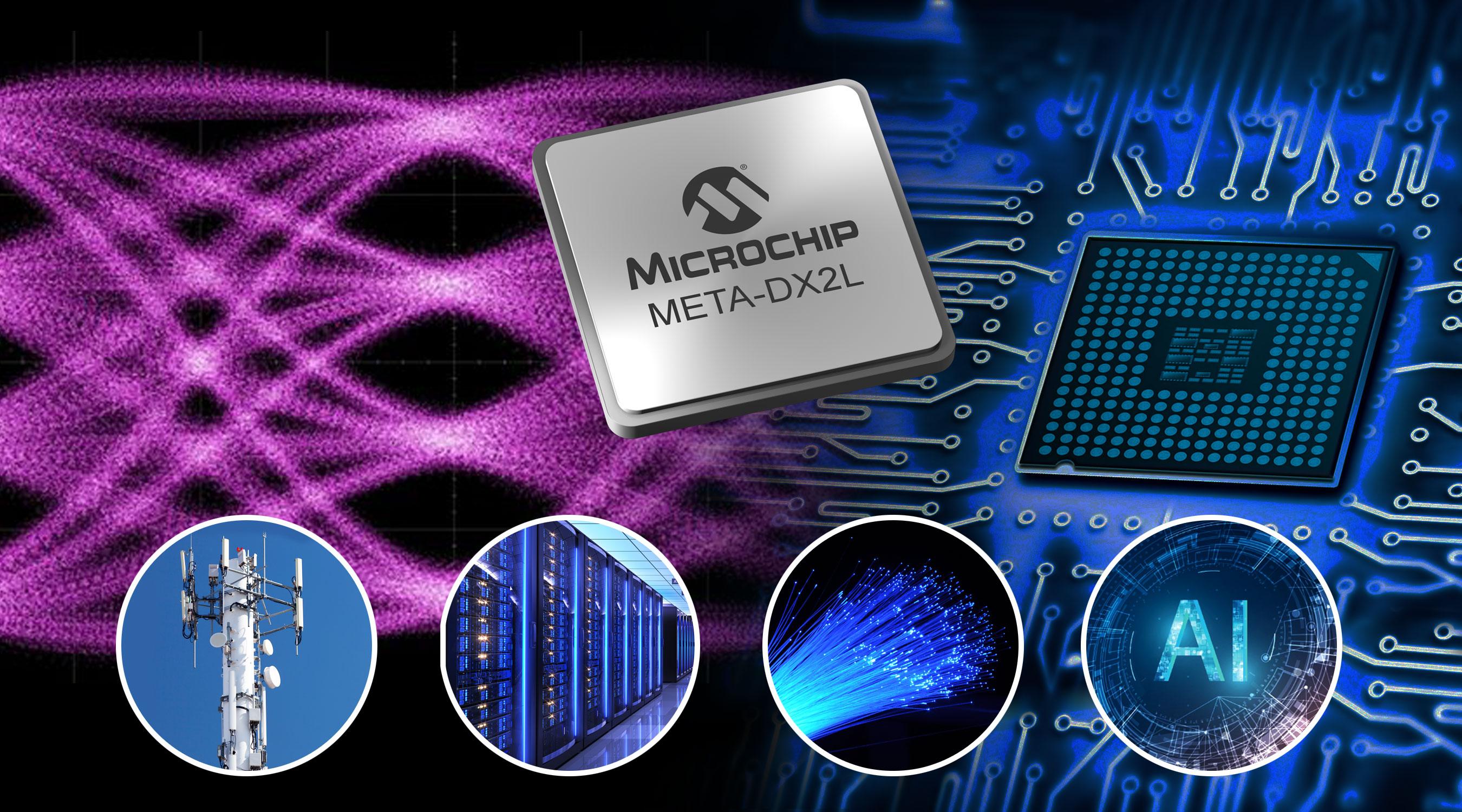 Microchip推出业界最紧凑的1.6T以太网PHY,,可为云数据中心、5G和AI提供高达800GbE的连接性