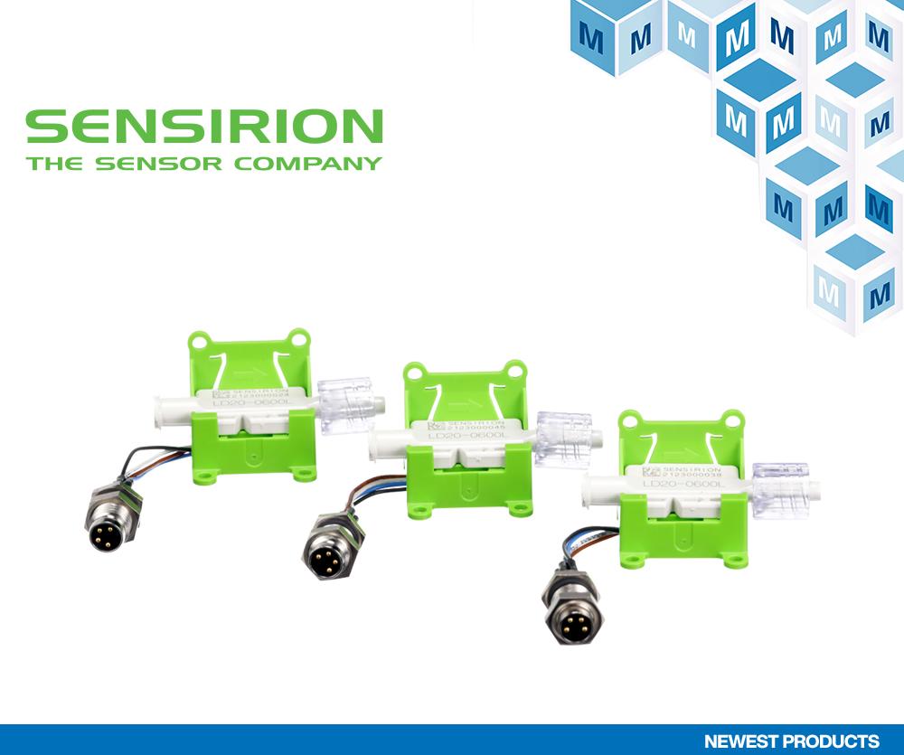 贸泽电子备货两款Sensirion液体流量评估套件 SEK-LD20-0600L和SEK-LD20-2600B